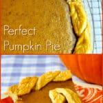Pumpkin Pie, photo with Text
