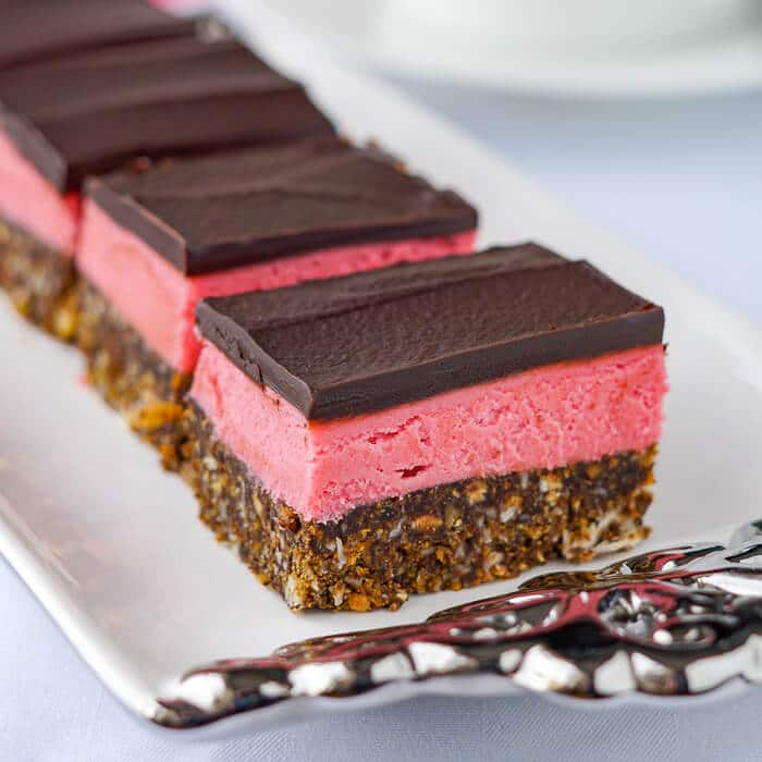 Raspberry Nanaimo Bars