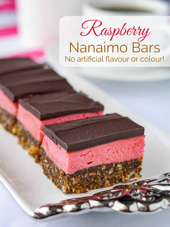 Raspberry Nanaimo Bars image with title text