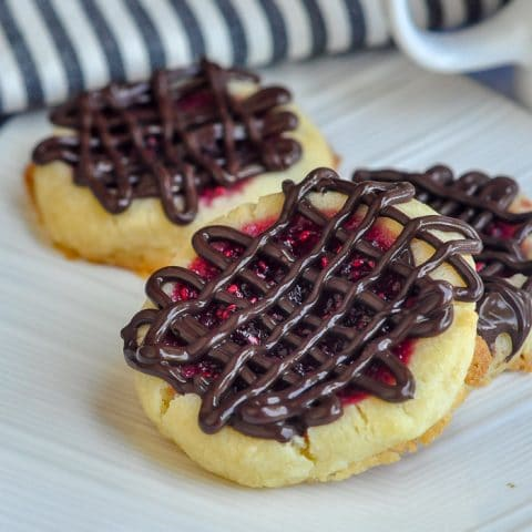 Raspberry Orange Thumbprint Cookies