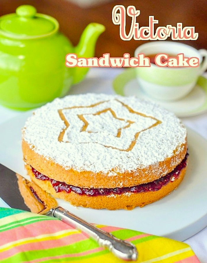 Classic Victoria Sandwich Cake. A teatime favourite! This classic British cake is a bake sale icon and much loved nationwide as the perfect teatime treat.