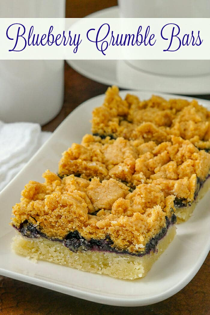 Blueberry Crumble Bars image with title text overlay