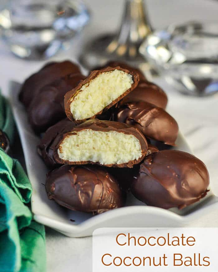 Chocolate Coconut Balls image with title text