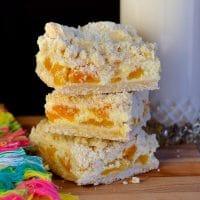 Apricot Amaretto Cheesecake Bars