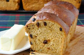 Newfoundland Molasses Raisin Bread image with full loaf