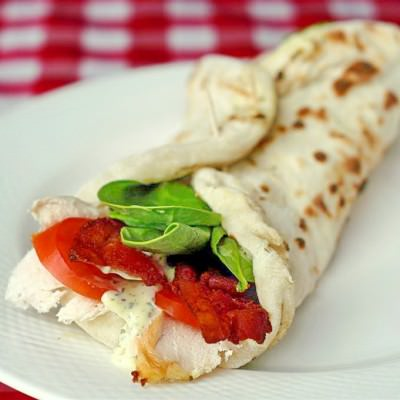 Flatbread Turkey Club Wrap