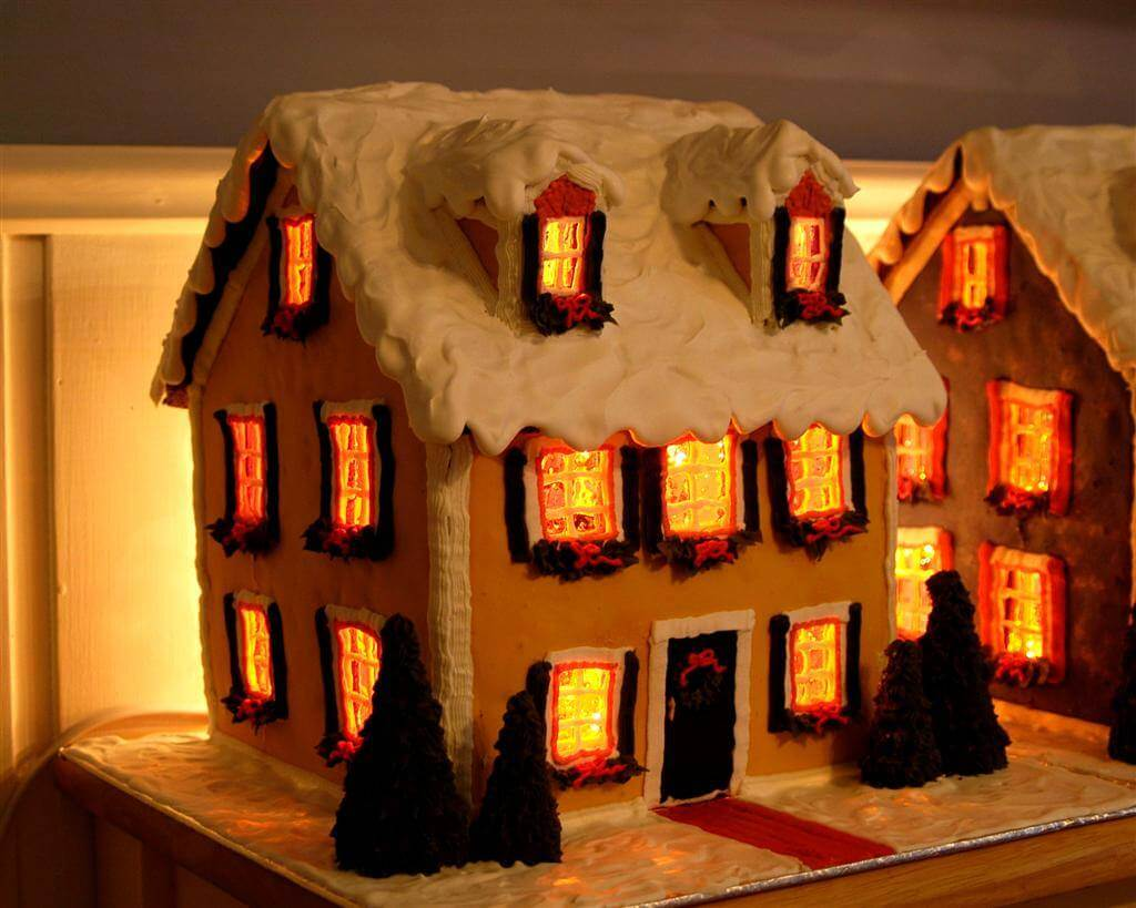 Detailed Instructions For Making A Lighted Gingerbread House