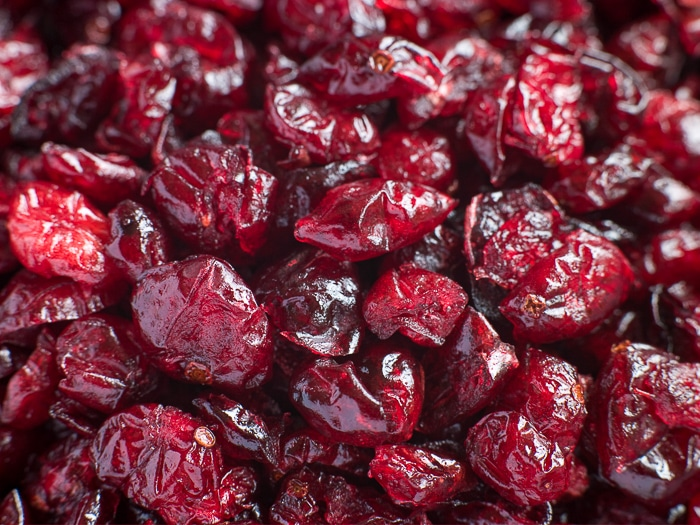 stock photo of dried cranberries.