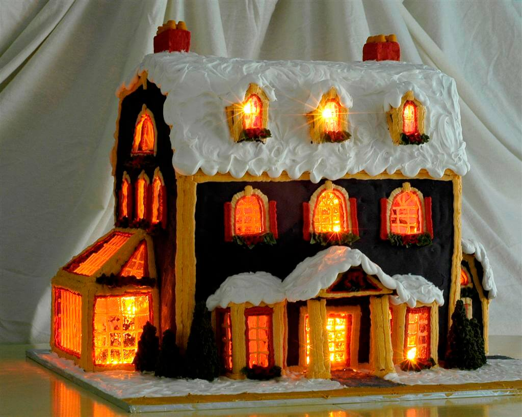Detailed Instructions for Making a Lighted Gingerbread House - Rock ...