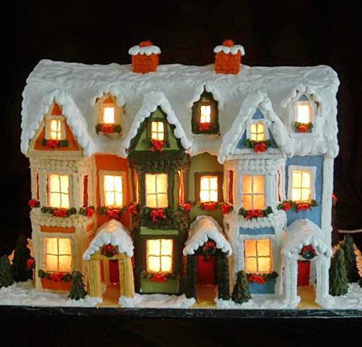 Detailed Instructions for Making a Lighted Gingerbread House on gingerbread roof designs, art designs, valentine's day designs, gingerbread architectural designs, mother's day designs, cupcakes designs, bread designs, gift designs, little houses designs, cobblestone driveway designs, pumpkin designs, gingerbread porch designs, gumball machine designs, gingerbread castle designs, vanilla house designs, upscale club designs, christmas designs, dessert designs, elf designs, chicken designs,