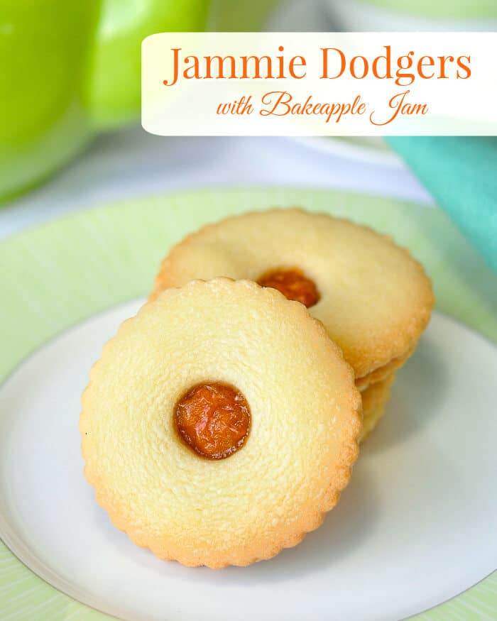 Jammie Dodgers with Bakeapple Jam