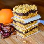 Orange Date Crumble Bars close up image