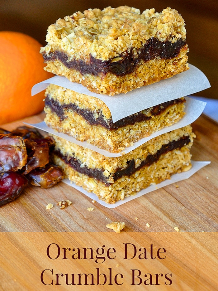 Orange Date Crumble Bars image with title text