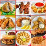 Party Food Ideas Photo Collage with title text