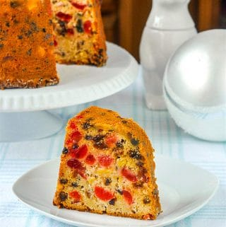 Pineapple Fruitcake photo with title text for Pinterest