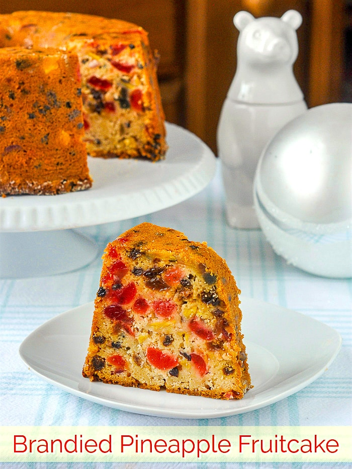Pineapple Fruitcake With A Rich Cream Cheese Batter