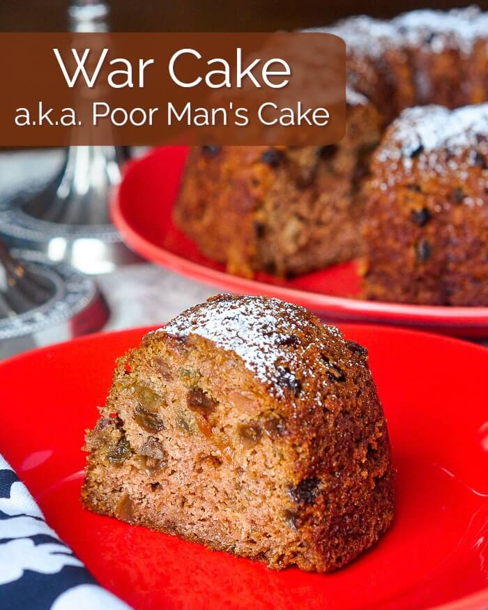 War Cake a.k.a. Poor Man's Cake image with title text