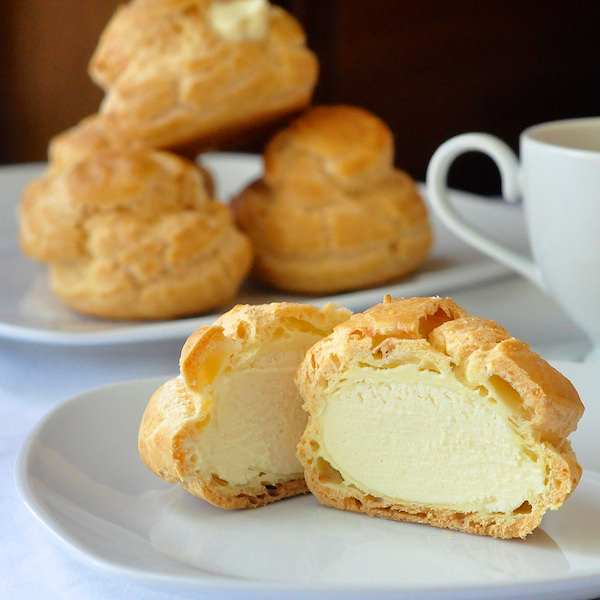Frozen White Chocolate Cream Puffs - Rock Recipes