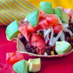 Low Fat Black Bean Turkey Chili Bowls