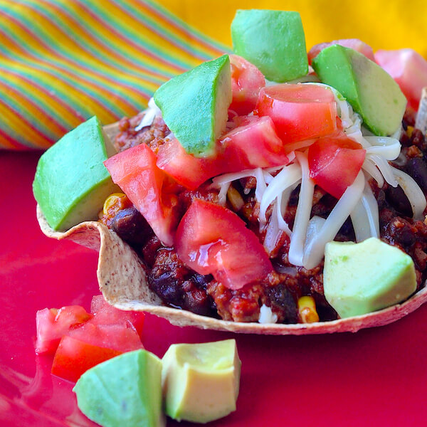 Low Fat Black Bean Turkey Chili Bowls
