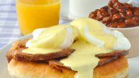 Toutons Benedict - Newfoundland fried dough toutons are the foundation of this indulgent brunch meal.