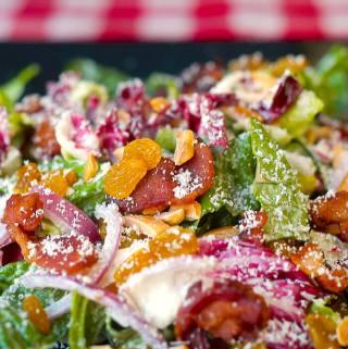 Radicchio Caesar Salad with Almonds