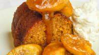 Honey Cake wirh Rum & Butter Bananas