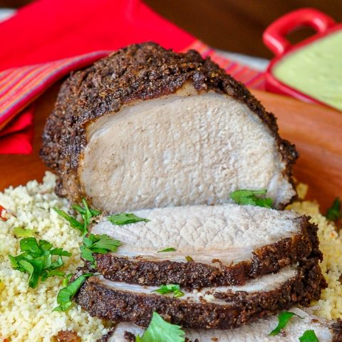 Indian Spiced Roast Pork close up featured photo