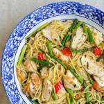 Lemon Chicken Asparagus Spaghetti
