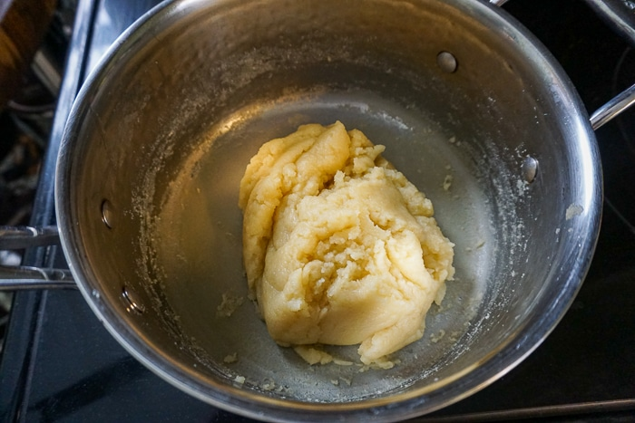 Let dough cool down when cooked.