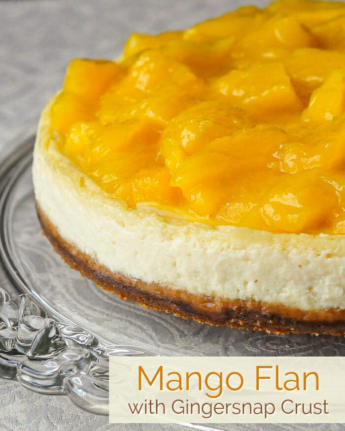 Mango Flan photo with title text