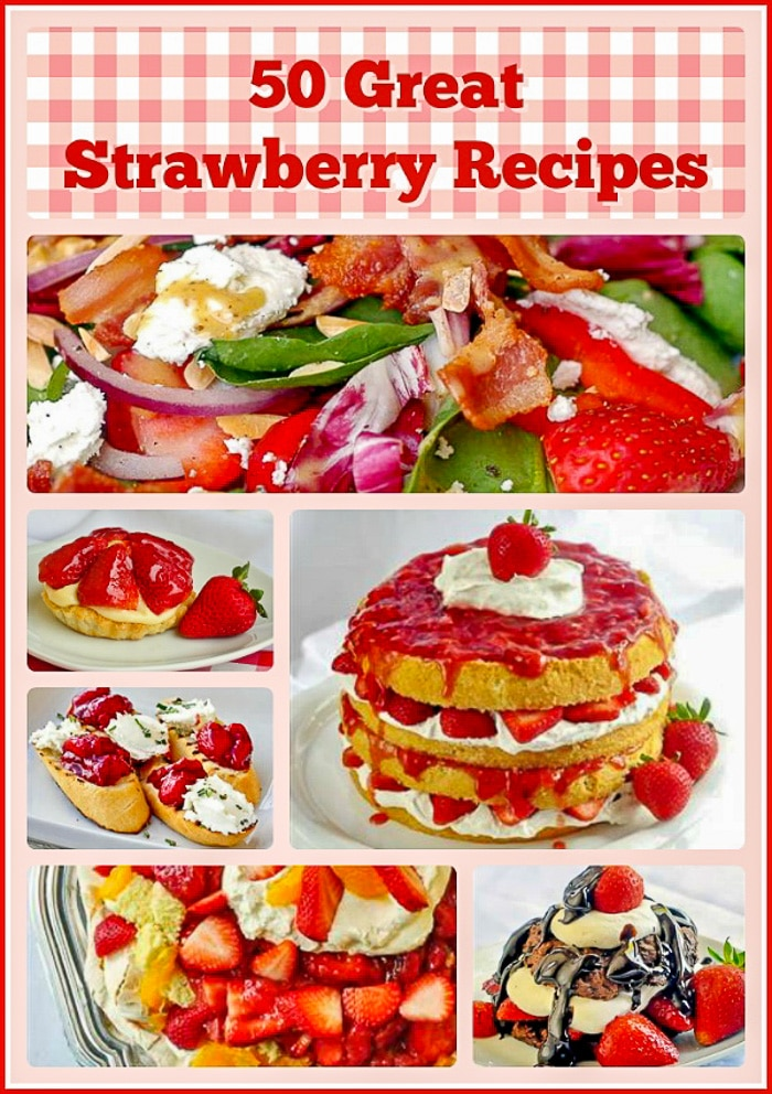 Strawberry Recipes Collage for Pinterest
