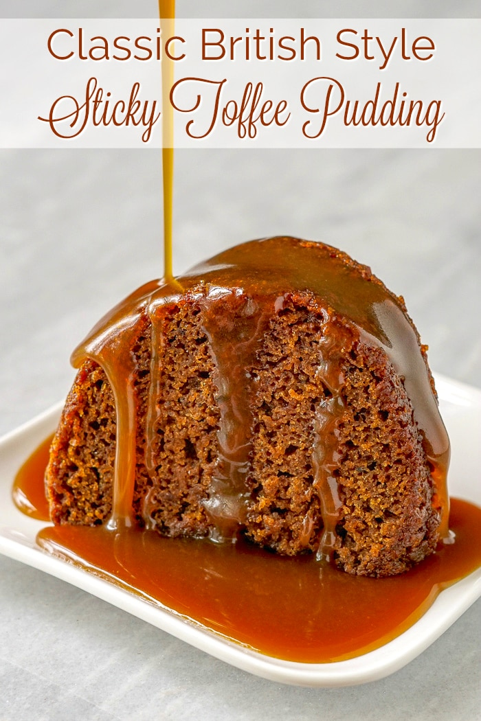 Sticky Toffee Pudding photo with title text for Pinterest