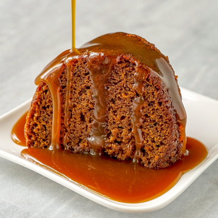 Sticky toffee pudding single serving from bundt pan