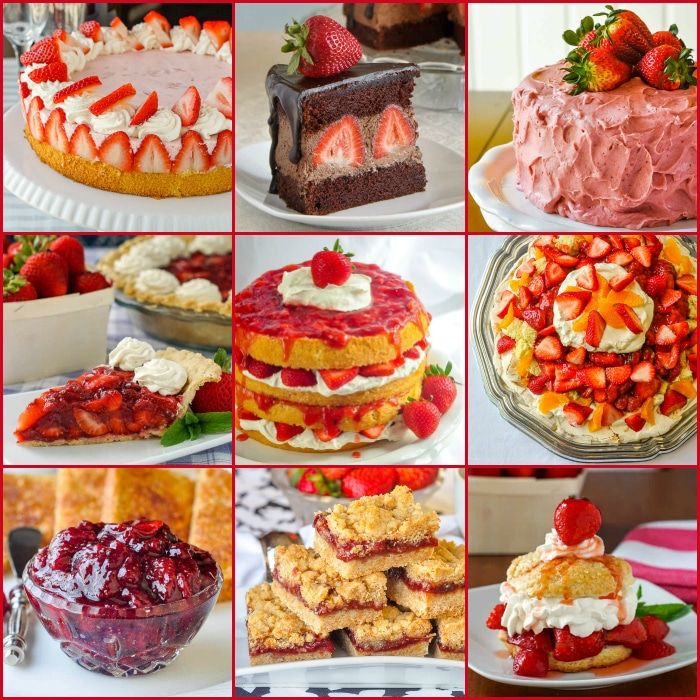 StrawberStrawberry Festival Collage Squarery Festival. 50 of our Best Strawberry Recipes.