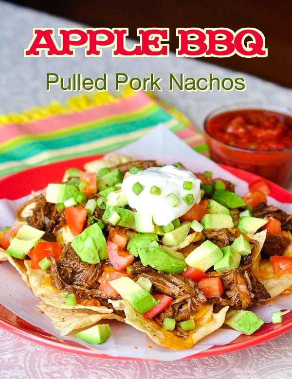 Apple Braised Pulled Pork Nachos
