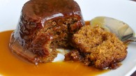 Perfect Sticky Toffee Pudding, in traditional English style with toffee sauce!