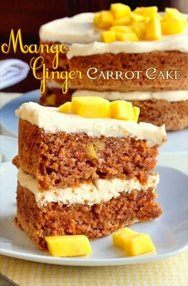 Mango Ginger Carrot Cake