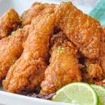 Chili Lime Sticky Crispy Chicken Wings close up photo