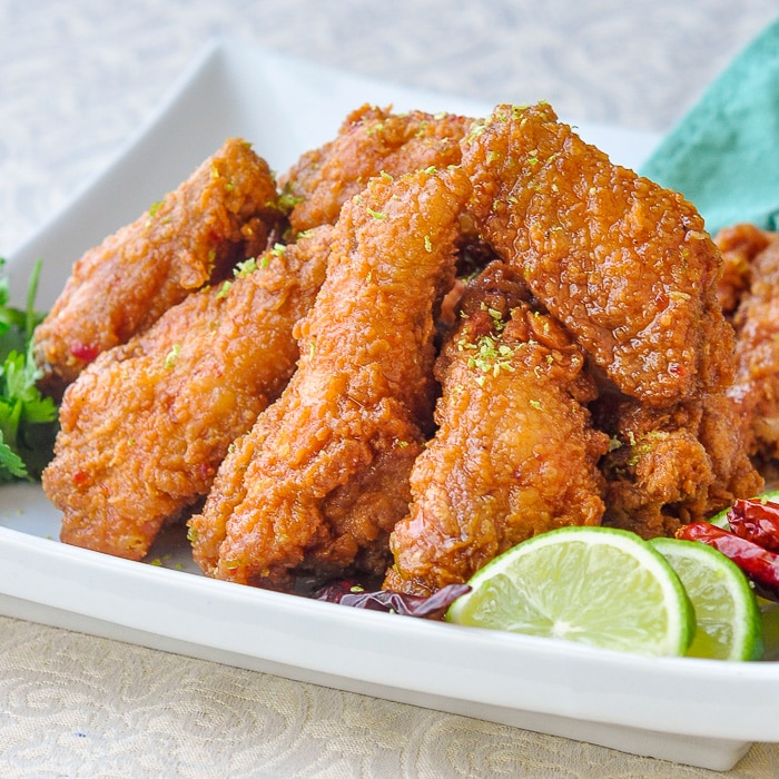 Chili Lime Sticky Crispy Chicken Wings square cropped featured image