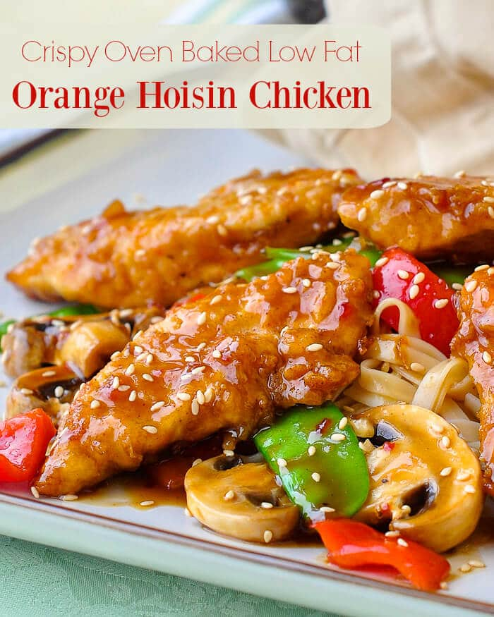 Crispy Oven Baked Low Fat Orange Hoisin Chicken