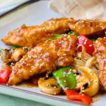 Crispy Oven Baked Low Fat Orange Hoisin Chicken