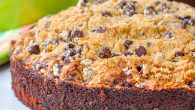 Date Coffee Cake with Chocolate Chip Streuse