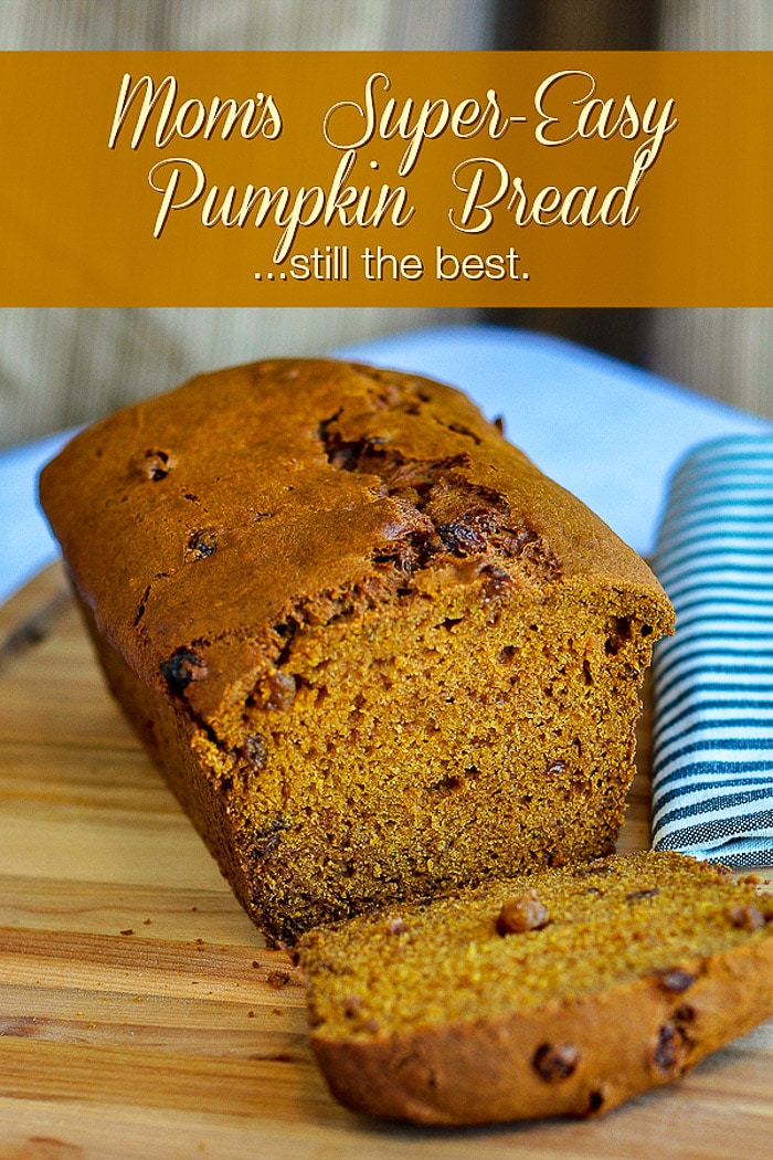 Pumpkin Bread photo with title text for Pinterest