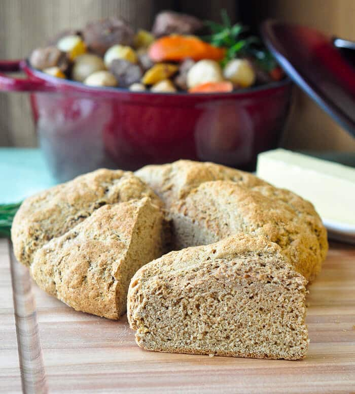 Whole Wheat Irish Soda Bread. The perfect thing to serve with our Irish Stew recipe.