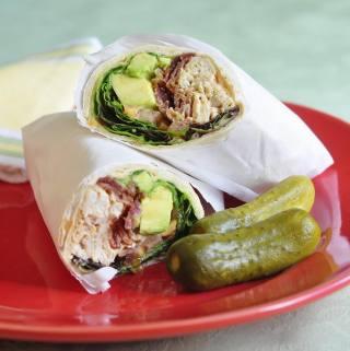 Smokey Spiced Homemade Mayonnaise in Avocado Turkey Club Wraps