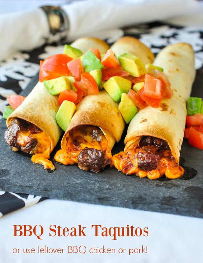Barbecue Steak Taquitos