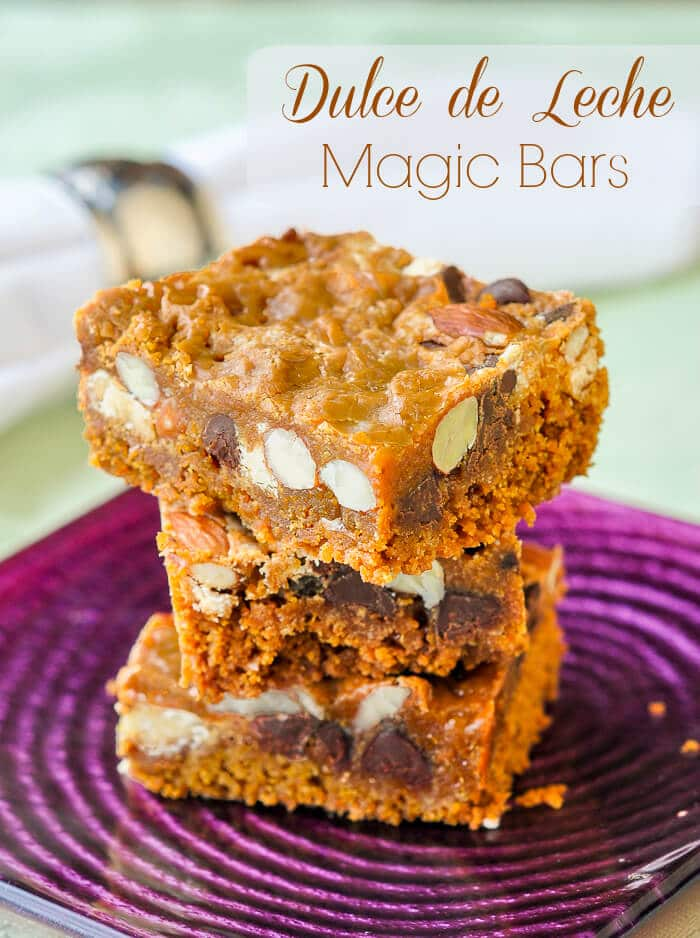 Dulce de Leche Magic Bars with Chocolate & Almonds - so ...