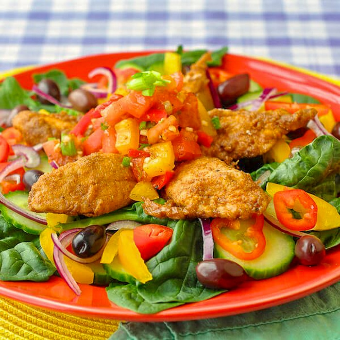 Mexican Spiced Chicken and Lime Salsa Salad