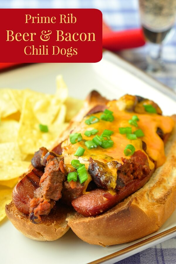 Prime Rib Beer and Bacon Chili Dogs